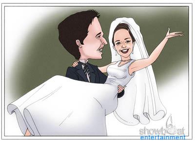 Professional wedding caricatures studio.