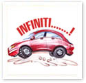 Infiniti Car : Car caricature