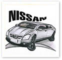 Nissan Car : Car caricature