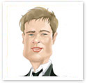 Brad Pitt : Caricature from photo