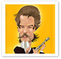 Brosnan : Caricature from photo