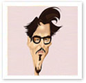 Johnny Depp : Caricature from photo