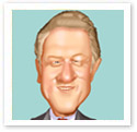 Clinton : Digital caricature