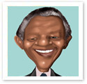 Nelson Mandela : Digital caricature