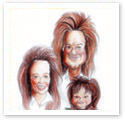 Amazing Family : Family caricature