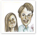 Family Ties : Family caricature