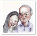 Forever Moments : Family caricature