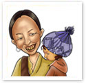 Mom's Daughter : Family caricature
