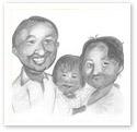 Sweet Memories : Family caricature