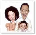 Family Unity : Family caricature