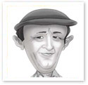 Don Bradman : Sports caricature