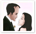Soul Mates : Wedding caricature