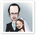 Wedding Date : Wedding caricature