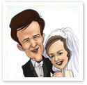 Wedding Doves : Wedding caricature