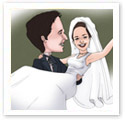 Wedding Engagement : Wedding caricature