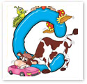 Letter C : Children Illustration