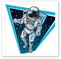 Astronaut : Scientific Illustration