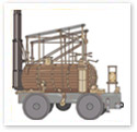 Wooden Train : Technical Illustration