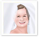 Smiling Bride : Wedding portrait